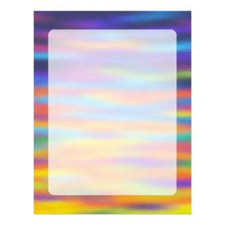 Abstract Desert Sunset Sky Artwork Personalized Letterhead