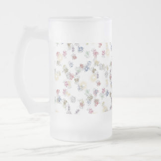 Abstract Design 16 Oz Frosted Glass Beer Mug