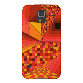 Abstract Design 2 Red Cases For Galaxy S5
