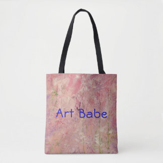 """Abstract Design """"Art Babe"""" Pink Tote"""