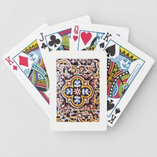 Abstract design bicycle playing cards