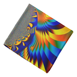 Abstract Design Blue And Yellow Pattern Bandana