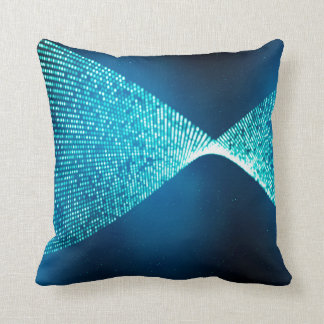 Abstract Design Blue Backround And Silver Spectum Throw Pillow