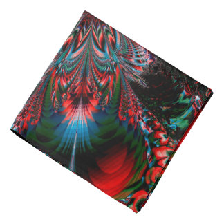 Abstract Design Blue Red And Green Bacground Bandana