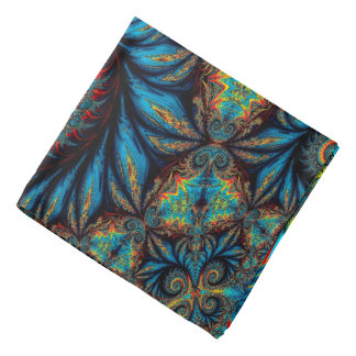 Abstract Design Blue Whirl Background Bandana