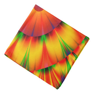 Abstract Design Bright Concentric Circles Bandana