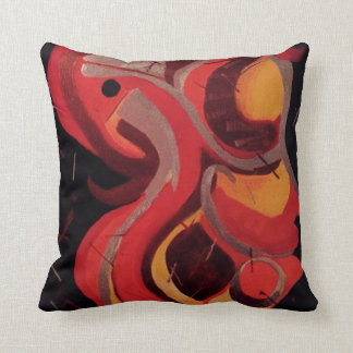 Abstract Design by DS Watkins Throw Pillow