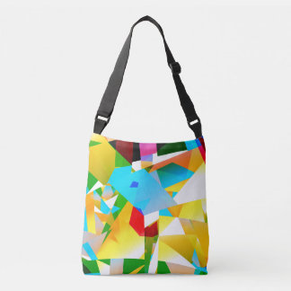 abstract design colorful fractal crossbody bag