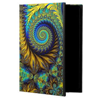 Abstract Design Feather Look Yellow And Blue Whirl