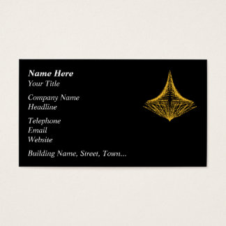 Abstract design, fiery amber and black. business card