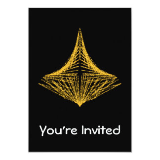 Abstract design, fiery amber and black. 5x7 paper invitation card