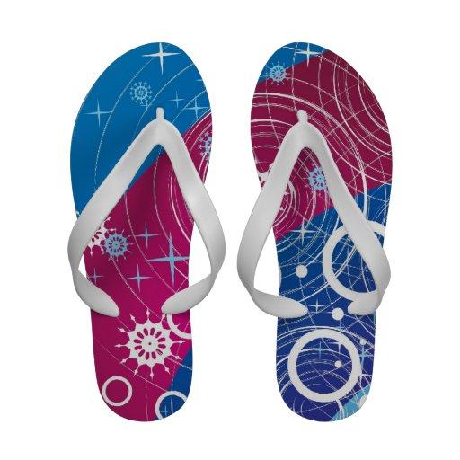 Abstract Design Flip Flops Sandals