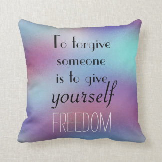 Abstract Design Forgiveness Quote Reversible Throw Pillow