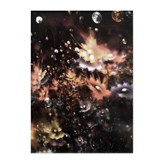 abstract design fractal flowers acrylic wall art