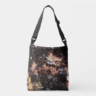abstract design fractal flowers crossbody bag