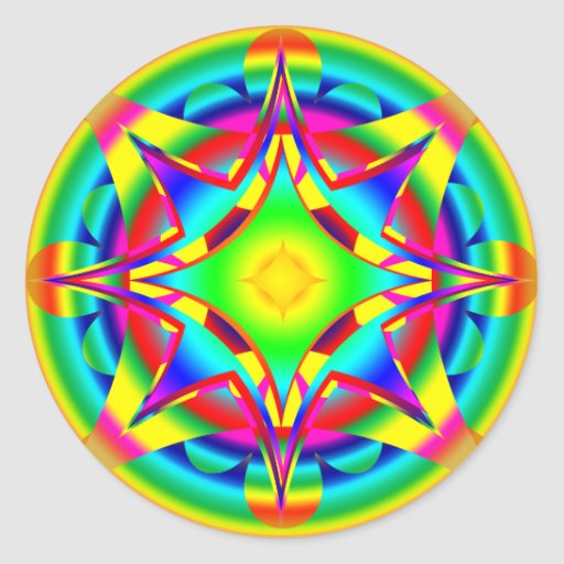 Abstract Design Fractal Geometric Stickers