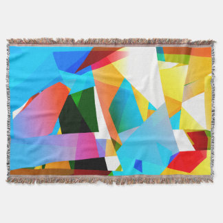 abstract design fractal throw