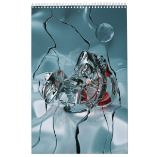 abstract design fractal wall calendar