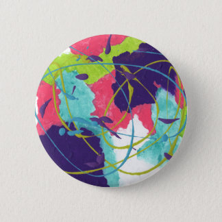 Abstract Design from Original Painting 2 Inch Round Button