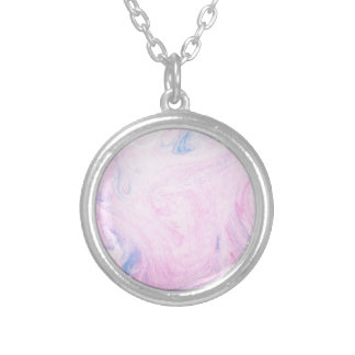 Abstract Design from Original Painting Round Pendant Necklace