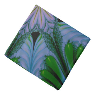 Abstract Design Green And Blue Bandana