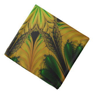Abstract Design Green And Yellow Bandana