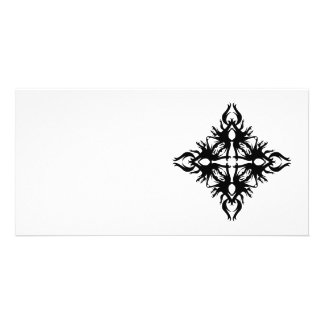 Abstract Design in Black. Photo Card