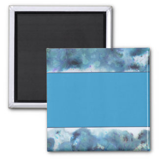 Abstract Design in Blue. Square Magnet