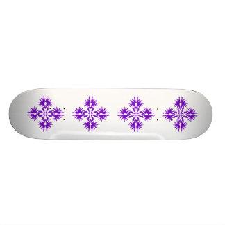 Abstract Design in Purple. Skate Board Decks
