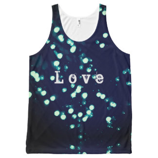 Abstract design love All-Over-Print tank top