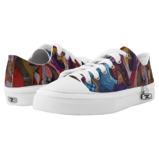Abstract Design Low Top Shoes