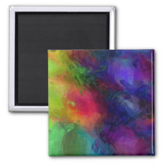 Abstract Design, Many Colors Square Magnet
