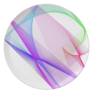ABSTRACT DESIGN PASTEL COLOURS DINNER PLATE