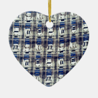 abstract design pattern ceramic heart ornament