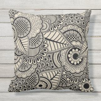 Abstract design pattern throw pillow