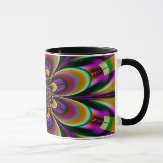 Abstract Design Purple Background Floral Design Mug