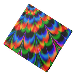 Abstract Design Radiating Color Wheel Bandana