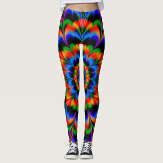 Abstract Design Radiating Color Wheel Leggings