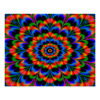 Abstract Design Radiating Color Wheel Poster