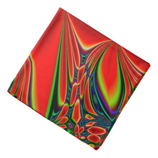 Abstract Design Red And Green Bandana