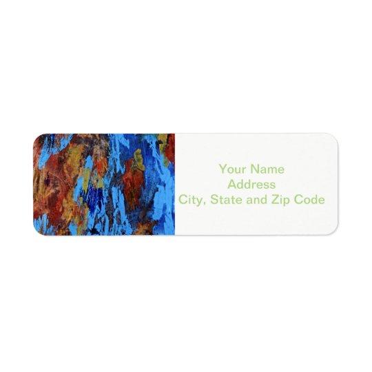 Abstract design return address label, autumn.