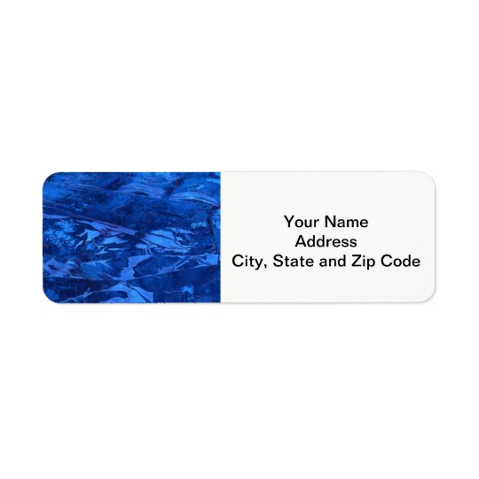 Abstract design return address label, deep waters.
