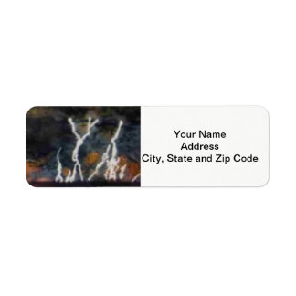 Abstract design return address label, lightening. return address label