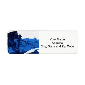 Abstract design return address label, mountain. return address label