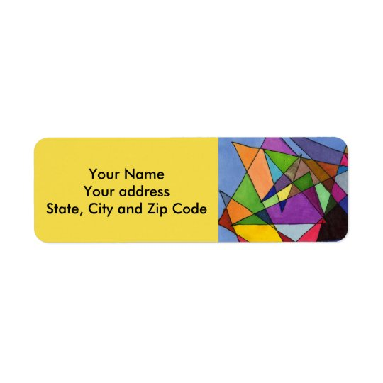 Abstract design return address label with angles.