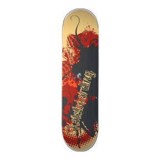 Abstract design skate deck
