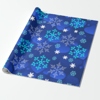 Abstract  Design Snowflakes Wrapping Paper