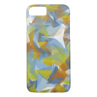 Abstract design soft blues yellows orange phone ca iPhone 7 case