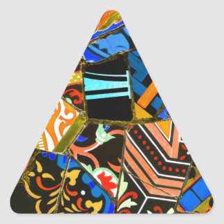 Abstract design triangle sticker
