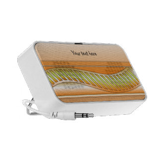 Abstract design with stripes speaker system